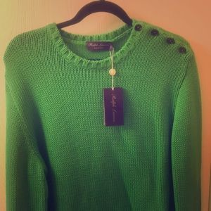 Ralph Lauren Sweaters - Ralph Lauren 100 percent green cotton sweater